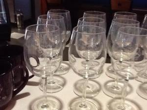 Wine Glasses = $10.00